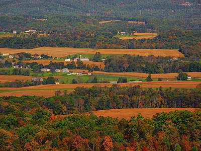 Photograph - Farms Below The Pa At by Raymond Salani III