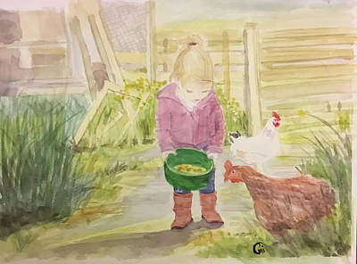 Painting - Farm's Life  by Annie Poitras