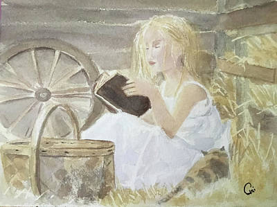Painting - Farm's Reader by Annie Poitras