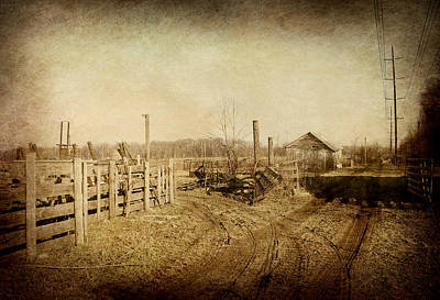 Photograph - Farmstead In Sepia by Cynthia Lassiter