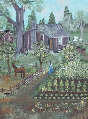 Painting - Farmstead by Virginia Coyle