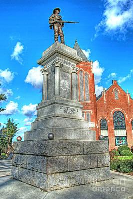 Hampden-sydney College Photograph - Farmville Va Virginia - Confederate Monument by Dave Lynch