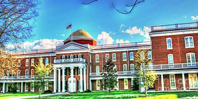 Hampden-sydney College Photograph - Farmville Va Virginia - Longwood University Ruffner Hall by Dave Lynch