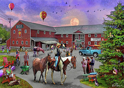 Digital Art - Farmway In Bradford Vermont Summer by Nancy Griswold