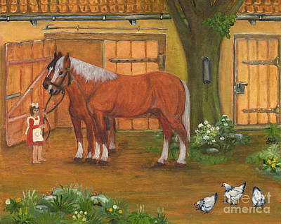 Folkartanna Painting - Farmyard by Anna Folkartanna Maciejewska-Dyba