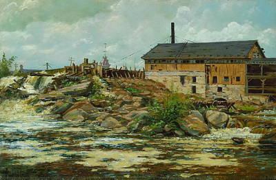 Farnham Painting - Farnham Mill At St  Anthony by MotionAge Designs