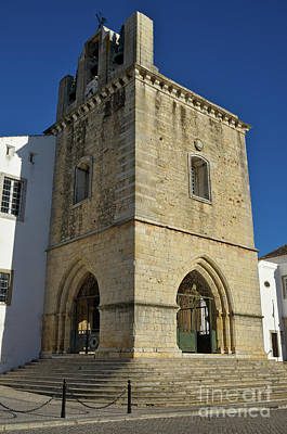 Christianity Photograph - Faro Main Church Bells Tower by Angelo DeVal