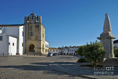 Clock Tower Photograph - Faro Old Town Center. Algarve Portugal by Angelo DeVal