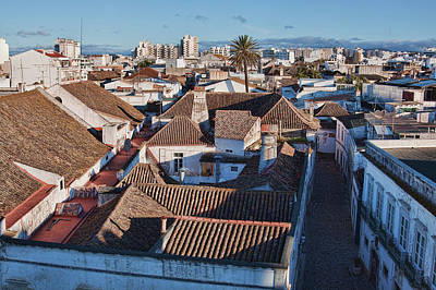 Photograph - Faro Portugal Rooftops by Tatiana Travelways