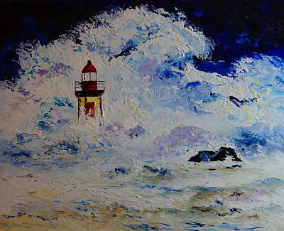 Painting - Farol Foz Do Douro by Valerie Curtiss