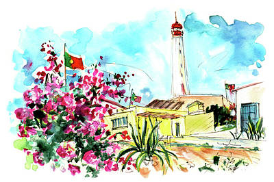 Lighthouse Drawing - Farol Island 04 by Miki De Goodaboom