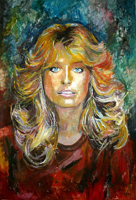 Charlies Angels Painting - Farrah Fawcett - Charlie's Angels by Marcelo Neira