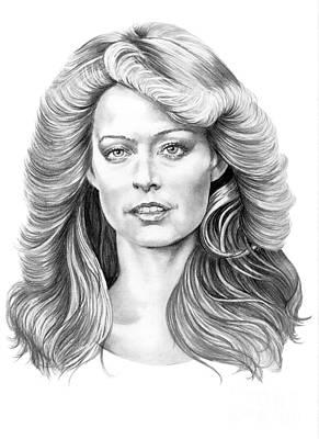 Murphy Drawing - Farrah Fawcett by Murphy Elliott