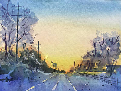 Farraway Farms Winter Art Print by Spencer Meagher