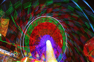 Photograph - Farris Wheel Crazy Light Abstract by James BO Insogna