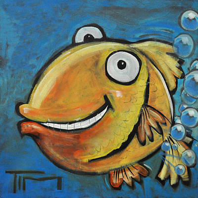 Painting - Farting Fish by Tim Nyberg