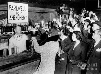 Cheers Photograph - Farwell 18th Amendment by Jon Neidert