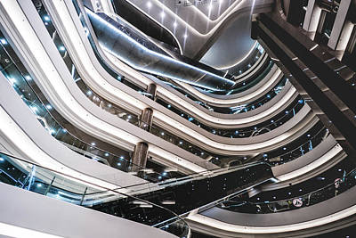 Hong Kong Photograph - Fascinating Hong Kong Mall by Sebastien Chort