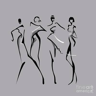 Proportions Painting - Fashion Abstraction N2 by Gabriela Tasiro