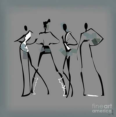 Proportions Painting - Fashion Abstraction N3 by Gabriela Tasiro