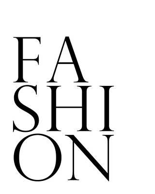 Digital Art - Fashion - Typography Minimalist Print - Black and White 01 by Studio Grafiikka
