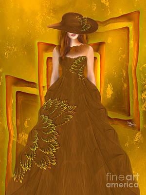 Fashion Design Art - Autumn Ball Gown By Rgiada Art Print by Giada Rossi