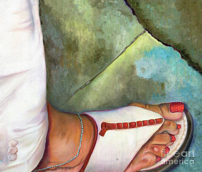 Ankle Bracelet Painting - Fashion Feat by Marlene Book