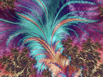Painting - Feather Abstract by MS  Fineart Creations