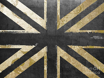 Patterns Painting - Fashion Flag United Kingdom by Mindy Sommers