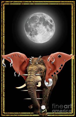 Elephant Digital Art - Fashion Guy - Night. by Prar Kulasekara