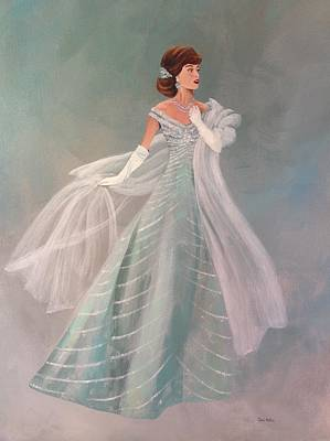 1950s Portraits Painting - Fashion Illustration Vintage Fashion Fifties Style  Vintage Style by Cheri Miller