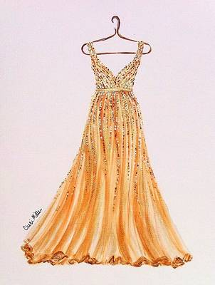 Fashion Illustration - Golden Girl Original