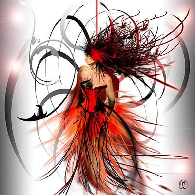 Evening Dress Mixed Media - Fashion by Liane Kay