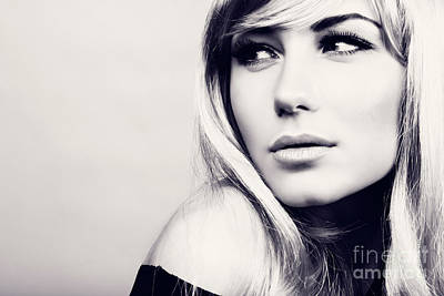 Photograph - Fashion Model Portrait by Anna Om
