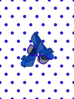 Digital Art - Fashion On Blue by Kathleen Sartoris