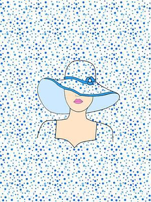 Digital Art - Fashion Portrait In Blue by Kathleen Sartoris