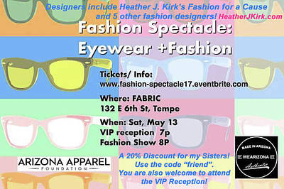 Photograph - Fashion Spectacle Flyer With Heather's Website by Heather Kirk