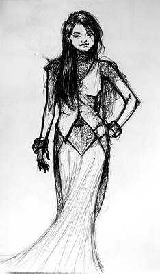 Concept Design Drawing - Fashion Study by Ulysses Albert III