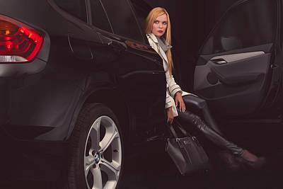 Bmw Photograph - Fashion With Bmw-x1 by Laszlo Toth