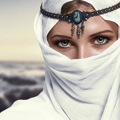 Hijab Fashion Photograph - Fashion Woman by IPolyPhoto Art