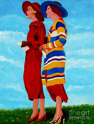 Painting - Fashionable Ladies by Anthony Dunphy