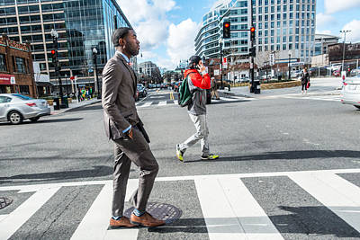 Photograph - Fashionable Man In Crosswalk by SR Green