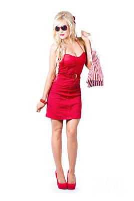Youthful Photograph - Fashionable Woman Shopping by Jorgo Photography - Wall Art Gallery