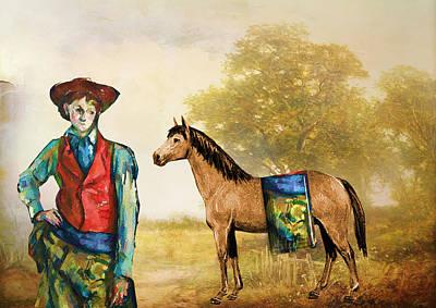 Women Digital Art - Fashionably Western by Laura Botsford