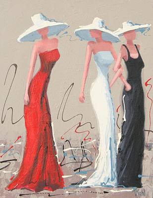 Woman Painting - Fashionistas by Thalia Kahl