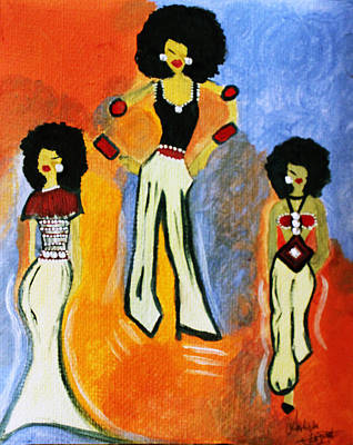 Painting - Fashionista  by Artista Elisabet