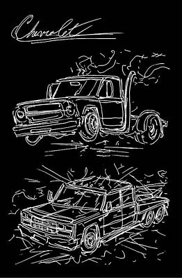 Fast And Furious 1967 Chevy And 1989 Chevy Art Print by Jason Williams