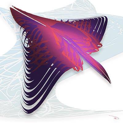 Wall Art - Digital Art - Fast Birds by Warren Lynn