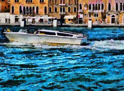 Photograph - Fast Boat In Venice by Ashish Agarwal