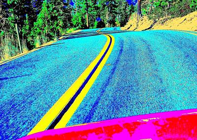 Art Print featuring the photograph Fast Ferrari Above Tahoe by Don Struke